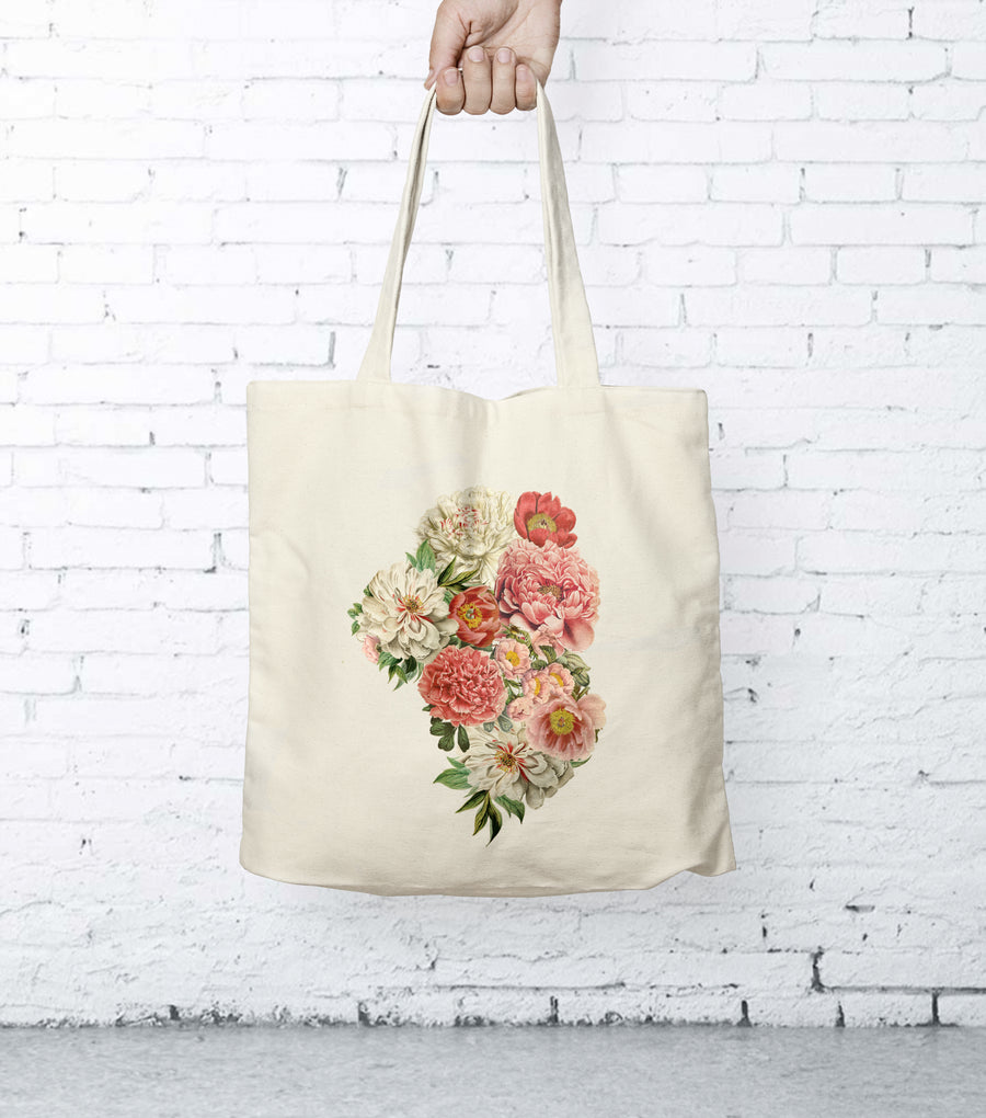 Peony Floral Tote Bag