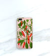 Hot Peppers Clear case over a rose gold iPhone