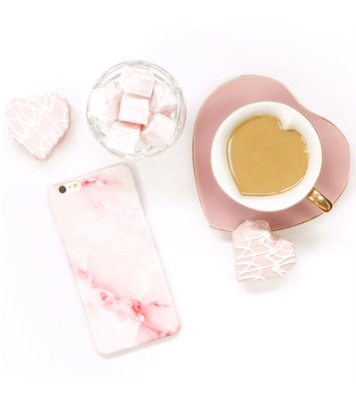 pretty pink marble case for iphone