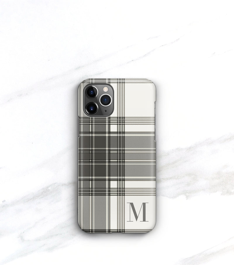 Winter White Plaid Case | iPhone 11