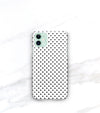 matte polka dots on iphone 11 case