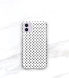 classic black and white polka dot pattern case for iphone 11