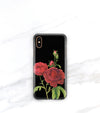 red rose floral iPhone case