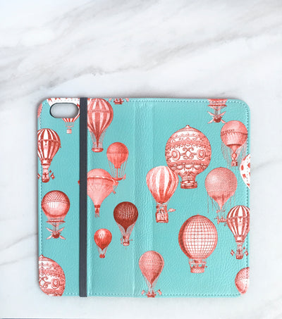 Hot Air Balloons wallet case for iPhone full view
