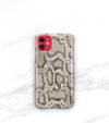 snakeskin print iPhone 11 case roccia