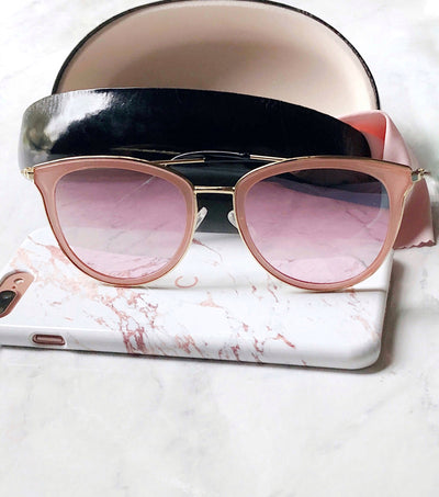 Rose mirrored sunnies with gold frames