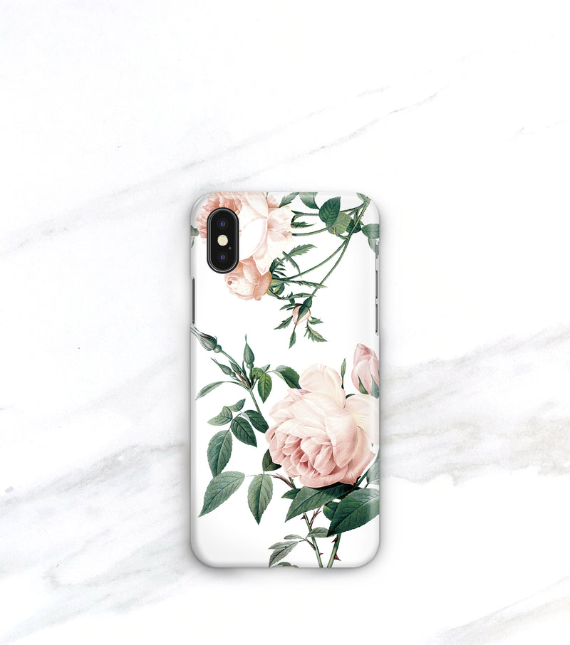 pink roses on case for iPhone Xs