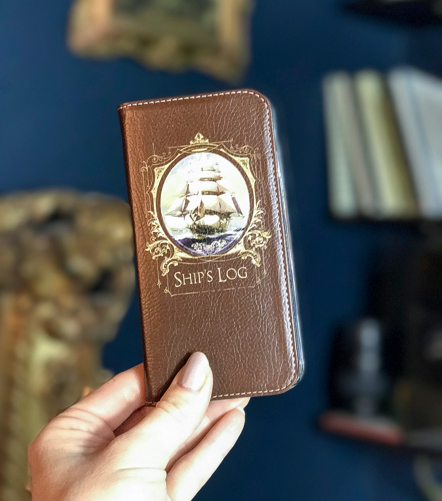 Ship's Log Wallet case for iPhone