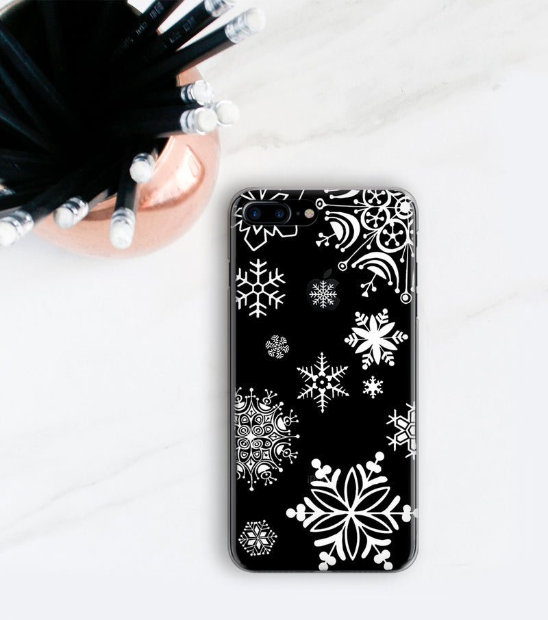 White Snowflakes iPhone 7 Plus case