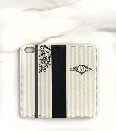 Stately Stripes Wallet case for iPhone full view