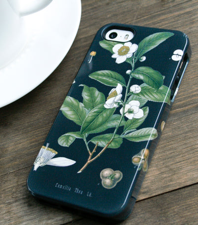 Black Tea Botanical iPhone Case