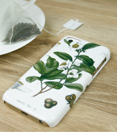 White Tea Botanical iPhone Case