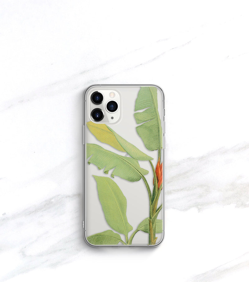 Tropical Leaf Clear Case | iPhone