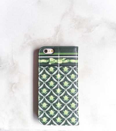 Green Decor iPhone 7 Wallet case