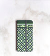 Green Decor Wallet case for iPhone with strap