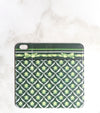 Green Decor Wallet Case for iPhone full view
