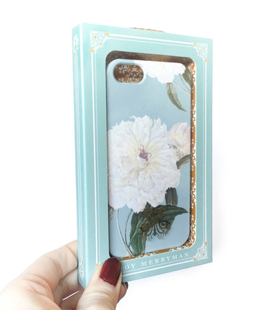 White Peony iPhone SE slim case