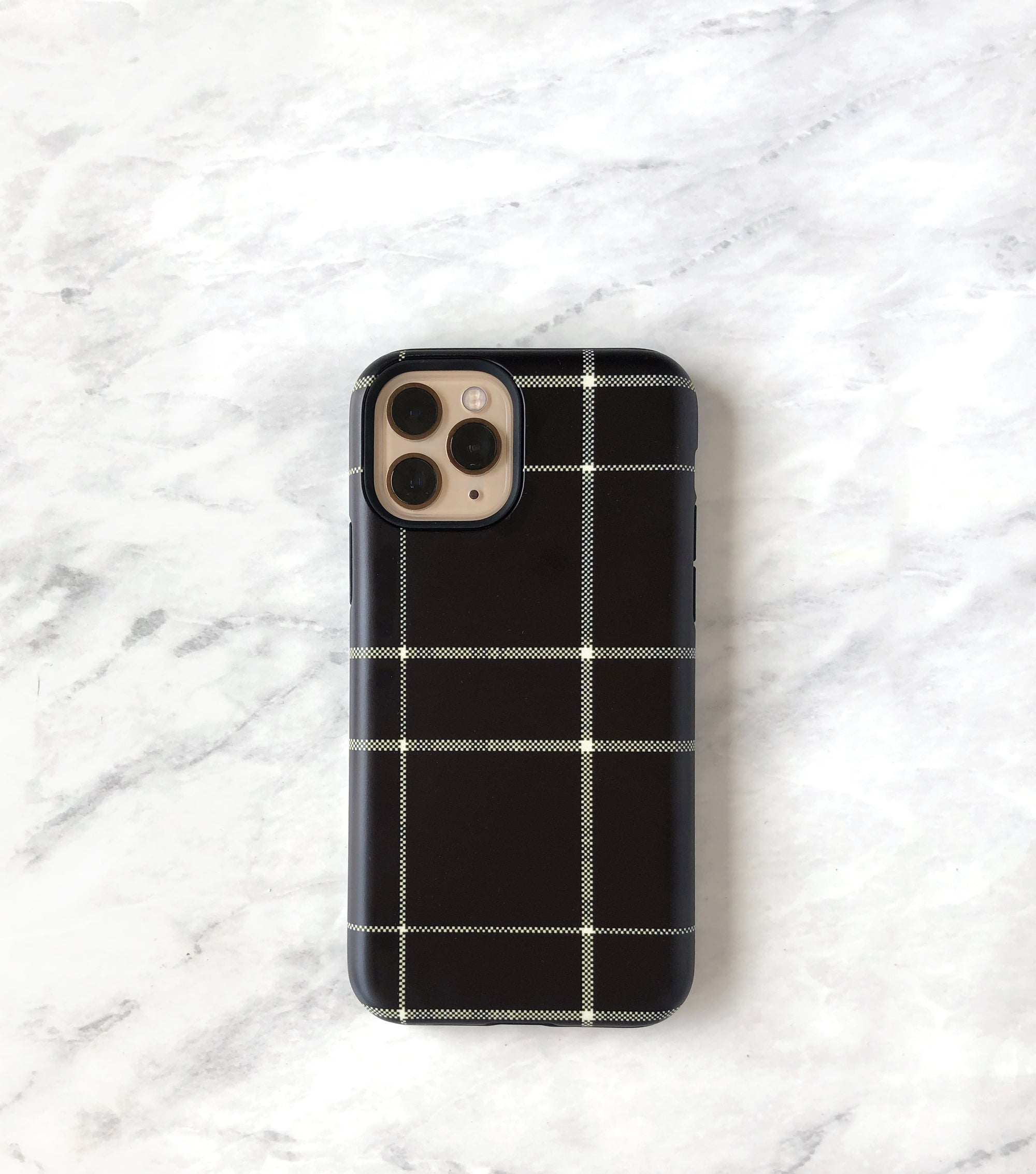 matte iPhone 11 pro case black plaid