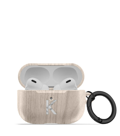 White Oak Print AirPod Case