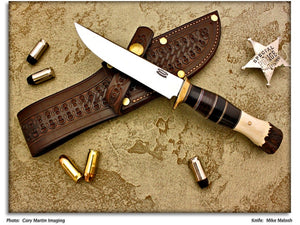 "Malosh, Mike - 5"" Scagel Style Hunting Knife"