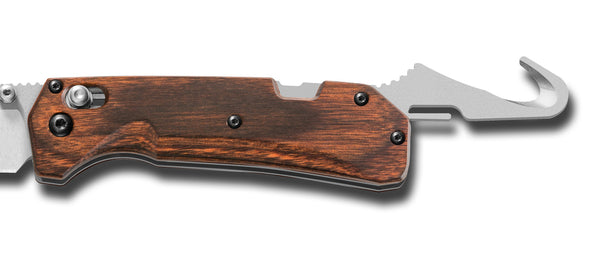Grizzly Creek - Wood, Folding Hunter w/Gut Hook - AxisLock Folder