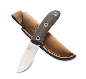Bushcraft - Micarta Drop Point Pardue Hunter w/Sheath - Fixed Blade