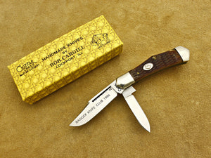 BKC 1986 Club Knife – Cripple Creek Honey Bone 2-Blade Dog Leg Jack