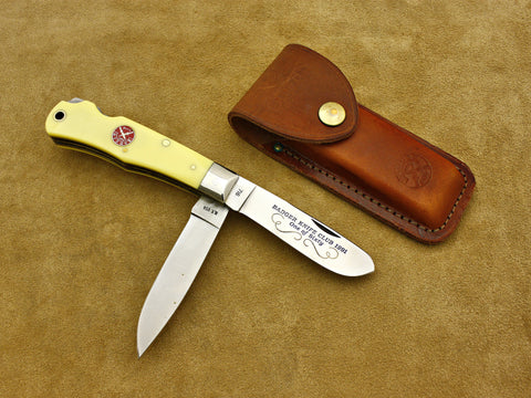 BKC 1991 Club Knife – Camillus Delrin Double-Loc 2-Blade Trapper