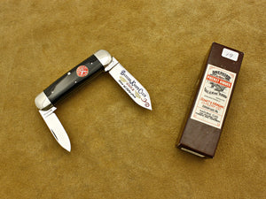 BKC 2002 Club Knife - Queen S&M Cape Buffalo Horn 2-Blade Baby Sunfish