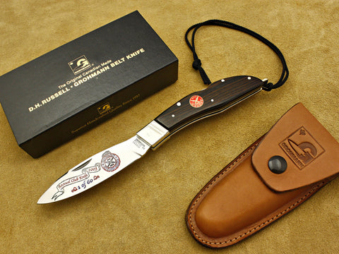 BKC 2003 Club Knife - Grohmann Rosewood R300S Lockback Folding Hunter w/Sheath
