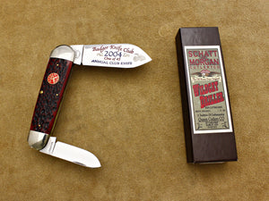 BKC 2004 Club Knife - Queen Schatt & Morgan Jigged Bone 2-Blade Sleeveboard
