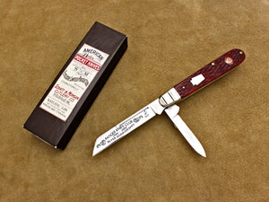 BKC 2009 Club Knife - Queen Shatt & Morgan Jigged Red Bone 2-Blade English Jack