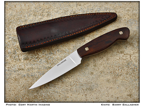 Gallagher, Barry - Ironwood Drop Point Hunter w/Sheath - Fixed Blade