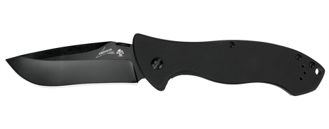 CQC-9K - G10/SS Drop Point - FrameLock Folder - Black Plain Edge