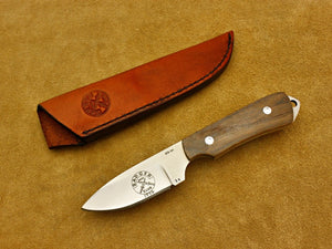 BKC 1992 Club Knife - Abbott, Bill - Walnut Utility Hunter w/Sheath - Fixed Blade