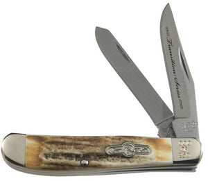 "Transition Series - Trapper, 2-Blade - Stag Horn (3 1/2"") PocketKnife - SlipJoint Folder"