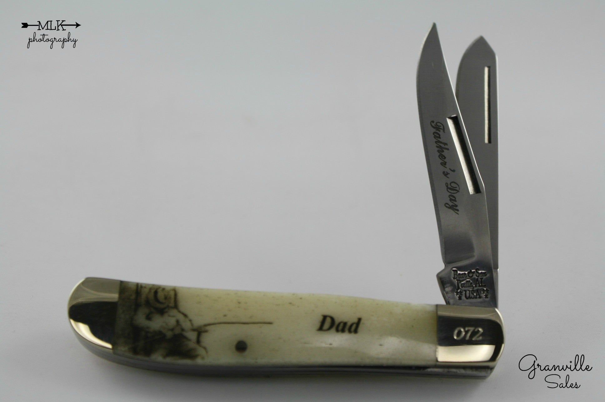 "Holiday Series - Trapper, 2-Blade  - Smooth Bone Dad's Day (3-1/2"") PocketKnife"