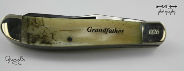 "Holiday Series - Trapper, 2-Blade - Smooth Bone G-Dad's Day (3 1/2"") Pocketknife"