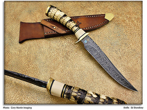 "Brandsey, Ed - Armadillo ""Gentleman's Companion"" - Fixed Blade - Plain Edge"