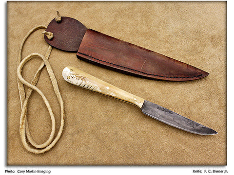 Bruner, Fred - Horsebone 1820s Reproduction Hunter - Fixed Blade