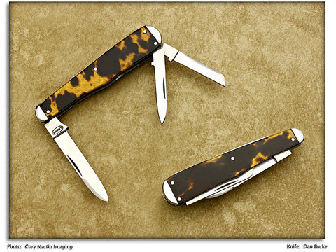 Burke, Dan - Orange Blossom 3-Blade Whittler - Slipjoint Folder