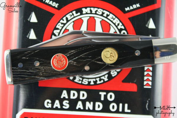 BKC 2013 Club Knife – Canal Street Buffalo Horn 2-Blade Swell Center Jack