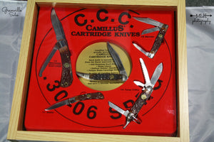 Camillus 1993 Cartridge Series - 5 Knife Set with Store Display