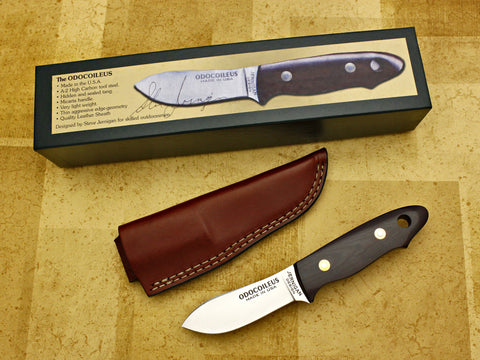 Odocoileus - Micarta Skinner Hunting Knife w/Sheath - Fixed Blade