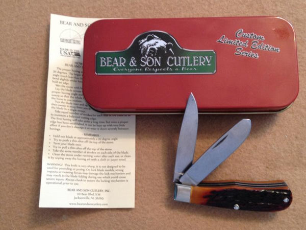 "Heritage Series - Gunstock Trapper, 2-Blade - Jigged Bone (3"") PocketKnife - SlipJoint Folder"