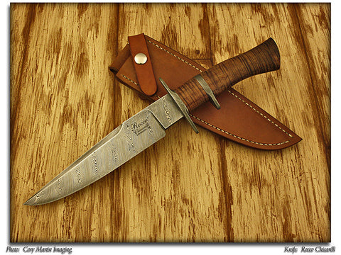 Chicarilli, Rocco - Damascus Sub-Hilt Fighter - Fixed Blade - Plain Edge
