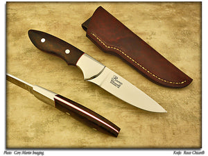 MKA 2013 Club Knife - Chicarilli, Rocco - Ironwood Hunter -Fixed Blade