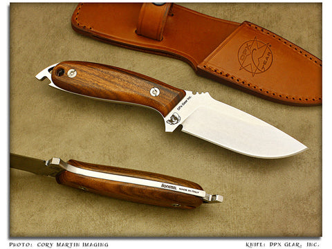 HEFT Woodsman 4 - Hardwood Utility w/Sheath - Fixed Blade