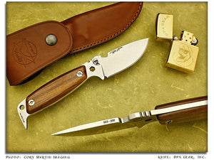 HEST Woodsman II - Hardwood First Run Survival Knife - Fixed Blade