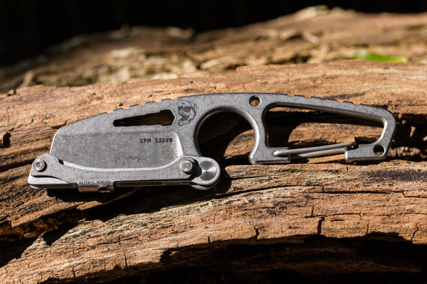 HIT Cutter - Carabiner Carry Knife - Fixed Blade - Sheepsfoot Plain Edge